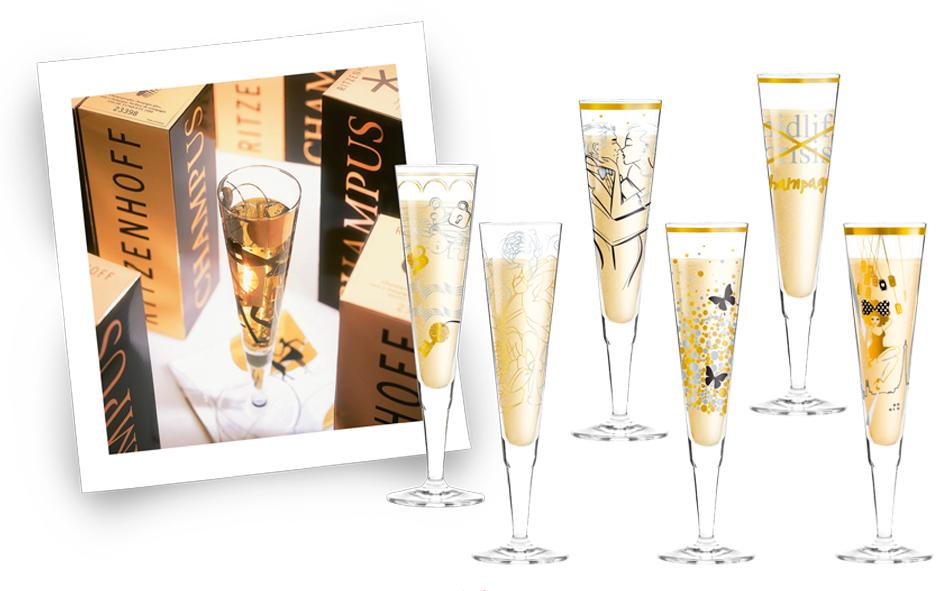 Decoriek Rizenhoff Champagne Glazen